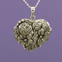 Ladybird and Flower Locket (1)
